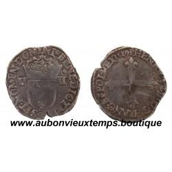 QUART d'ECU  HENRI III  1589  NANTES