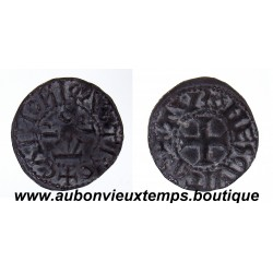 DENIER CHARLES III LE SIMPLE 898 - 936 TOURS - CHINON