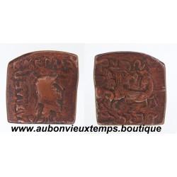 BRONZE DOUBLE UNITE  EUKRATIDES 1er  170 - 145 Av  J.C.  BAKTRIA