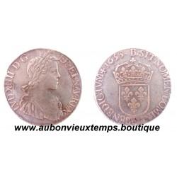 ECU ARGENT LOUIS XIV 1653 I LIMOGES