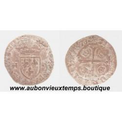 DOUZAIN  aux 2 H  HENRI III  1576  TOULOUSE