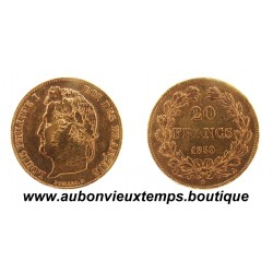 20 FRANCS OR LOUIS PHILIPPE 1er 1839 A  TETE LAUREE