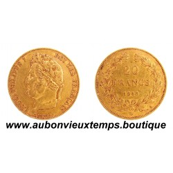 20 FRANCS OR LOUIS PHILIPPE 1er 1848 A  TETE LAUREE