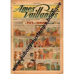 HEBDOMADAIRE AMES VAILLANTES  N° 41  12.10.1947  EDITION FLEURUS
