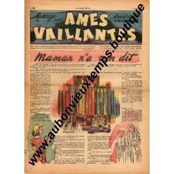 HEBDOMADAIRE AMES VAILLANTES  N° 20  18.05.1947  EDITION FLEURUS