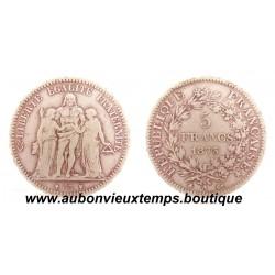 5 FRANCS ARGENT  1873 A  HERCULE