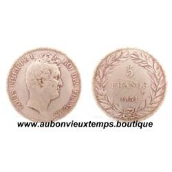 5 FRANCS ARGENT  1831 A  LOUIS PHILIPPE 1er