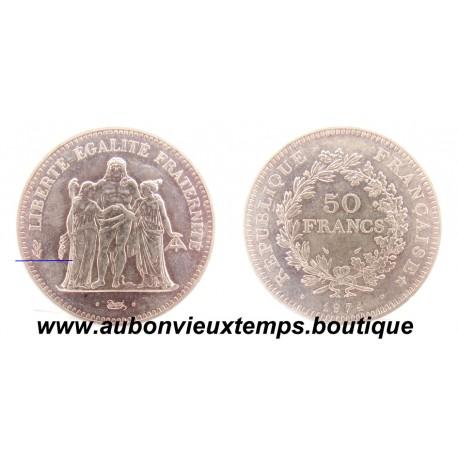 50 FRANCS ARGENT  1974  HERCULE - AVERS 20 FRANCS