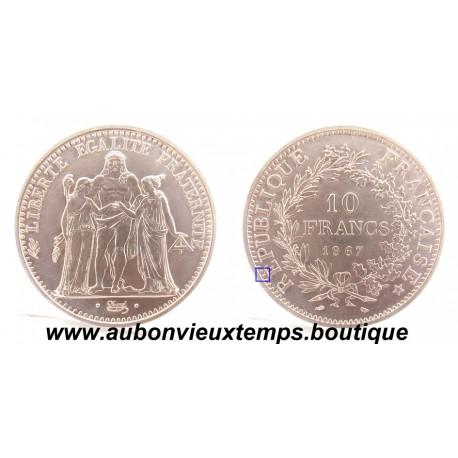 10 FRANCS ARGENT  1967  HERCULE