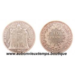 10 FRANCS ARGENT  1971  HERCULE