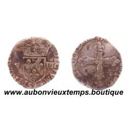 1/8 ECU ARGENT  HENRI III  1582  9  RENNES
