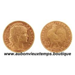 20 FRANCS OR  COQ  1905
