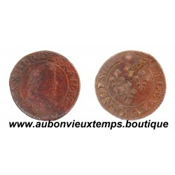 DOUBLE TOURNOIS  LOUIS XIII  1614 X  AMIENS