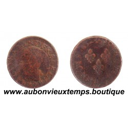 DOUBLE TOURNOIS  LOUIS XIII  1632 H  LA ROCHELLE