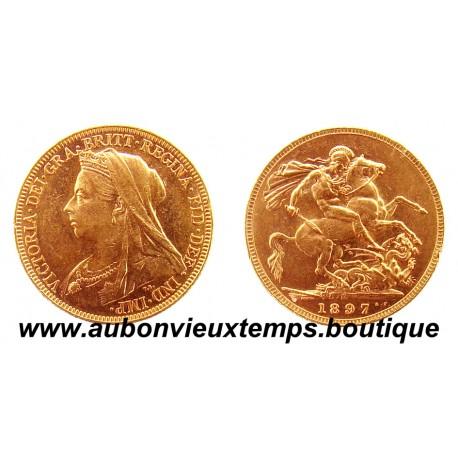 SOUVERAIN OR 1897 M  VICTORIA Vieille Tête   MELBOURNE
