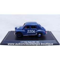 NOREV 1/43 RENAULT 4 CV MILLE MIGLIA 1063 - 1954