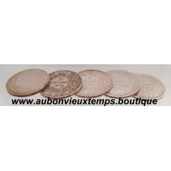 LOT MONNAIES ARGENT 5 FRANCS  HERCULE 1876 K