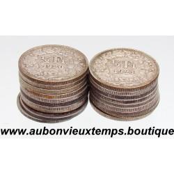 LOT MONNAIES ARGENT 1/2 FRANC  SUISSE