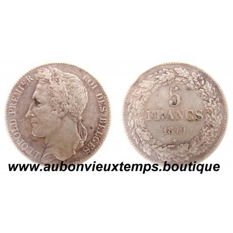 5 FRANCS  ARGENT LEOPOLD  1er  1849