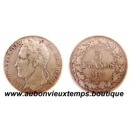 5 FRANCS  ARGENT LEOPOLD  1er  1848