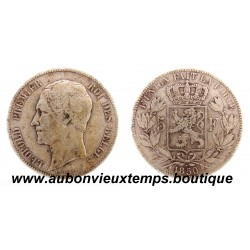 5 FRANCS ARGENT LEOPOLD 1er TETE NUE 1850