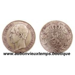 5 FRANCS ARGENT LEOPOLD 1er TETE NUE 1848