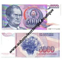 5000 DINARA 1985 - YOUGOSLAVIE