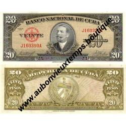 20 PESOS 1958 - CUBA