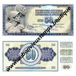 50 DINARA 1968 - YOUGOSLAVIE
