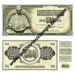 500 DINARA 1978 - YOUGOSLAVIE