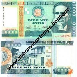 10 000 INTIS 1988 - PEROU