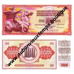 100 DINARA 1986 - YOUGOSLAVIE