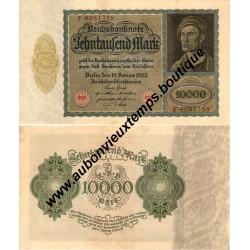 10 000 MARK 1922 - REICHSBANKNOTE - ALLEMAGNE
