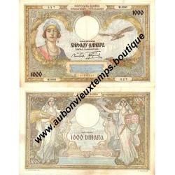 1000 DINARA 1931 - YOUGOSLAVIE