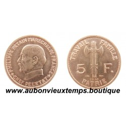 ESSAI  5 FRANCS CUPRO NICKEL 1941  PETAIN de BAZOR