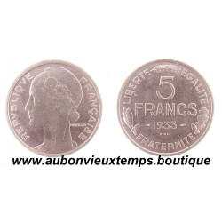 ESSAI 5 FRANCS NICKEL 1933 MORLON