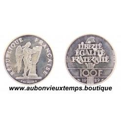 PIEFORT ARGENT 100 FRANCS DROITS DE L'HOMME - 1989  BU