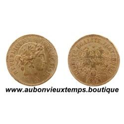 ESSAI ETAIN 20 FRANCS CONCOURS de LECLERC - 1848