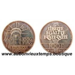 PIEFORT ARGENT 100 FRANCS LIBERTE - 1986  BU