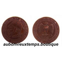 5 CENTIMES NAPOLEON III - BRONZE SATIRIQUE 1870