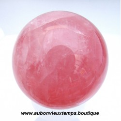 SPHERE EN QUARTZ ROSE DIAMETRE 66 mm