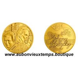 1/4 EURO MONNAIE DE PARIS 2020 - JOHNNY HALLYDAY - 60 ANS DE SOUVENIRS