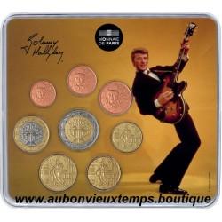 SET EUROS BU MONNAIE DE PARIS 2020 - JOHNNY HALLYDAY - GUITARE VINTAGE