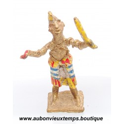 FIGURINE AFRICAINE ANCIENNE – ARTISANAT du GHANA - BRONZE