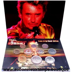 SET BU 2001 PROTOTYPE en FRANCS pour la MONNAIE DE PARIS - JOHNNY HALLYDAY