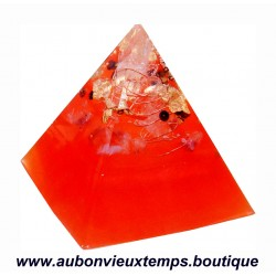 ORGONITE ORANGE forme PYRAMIDE AMETHYSTE