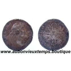 1/4 ECU LOUIS XIV 1704 AUX 8 L - 2ème Type - REFORME ARGENT