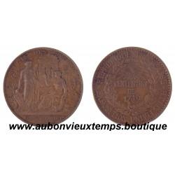 MONNAIE ESSAI 10 CENTIMES BRONZE REGIE DES MONNAIES 1889