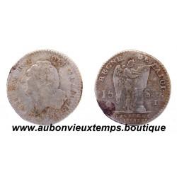 15 SOLS - LOUIS XVI 1691 I - 1er Semestre