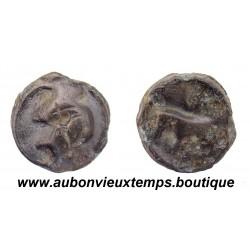 POTIN TURONS – A la TETE DIABOLIQUE et au TAUREAU 80 – 50 Av J.C. Région TOURAINE